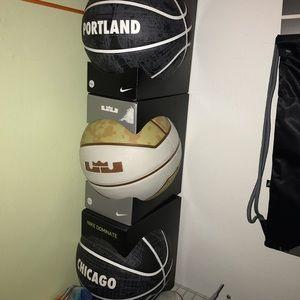 3 brand new Nike basketballs